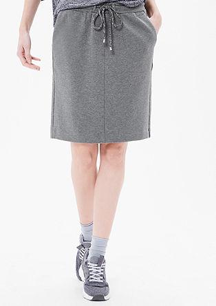 Sportovní tepláková sukně