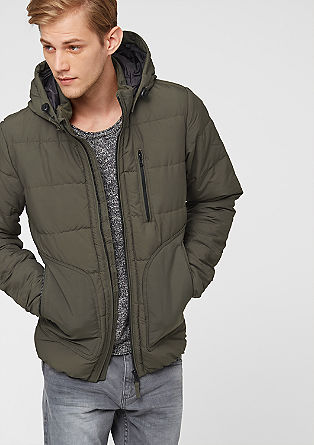 Sporty quilted jacket with a hood from s.Oliver