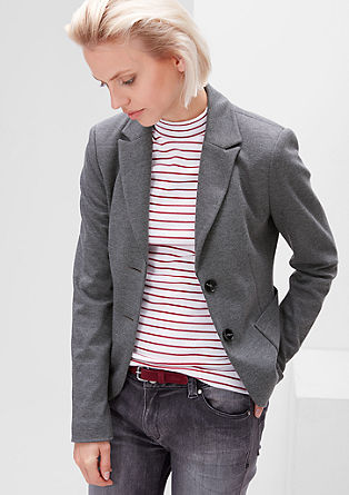 Sporty sweatshirt blazer from s.Oliver