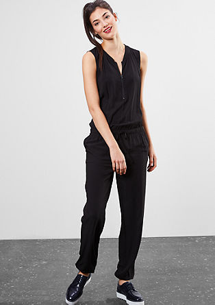 Sporty viscose jumpsuit from s.Oliver