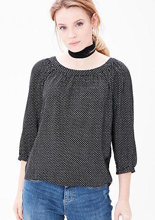 Sproščena bluza iz krepa