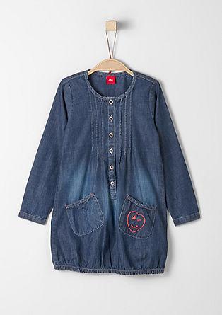 Sproščena jeans obleka