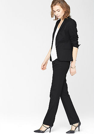 Sproščeno: Poslovne hlače s tkano strukturo