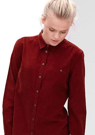 Srajčna bluza iz drobnorebrastega žameta