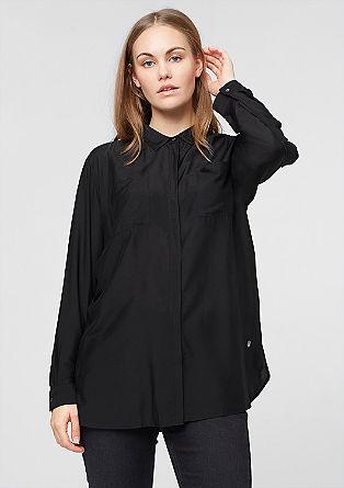Srajčna bluza iz svilene mešanice