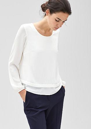 Srajčna bluza s širokim naborkom