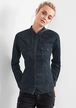 Srajčna bluza s spranim učinkom