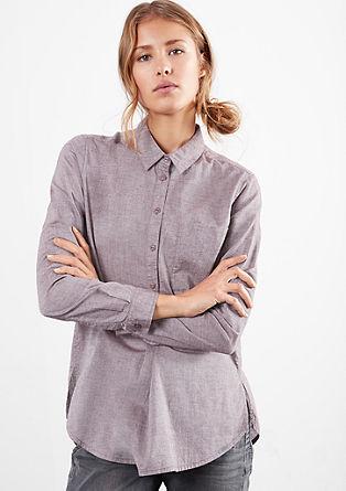 Srajčna bluza s tkano teksturo