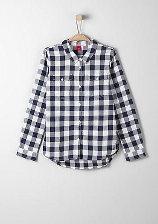 srajčna bluza v karirastem dizajnu