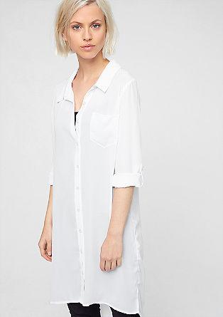 Srajčna bluza v slogu vokuhila iz šifona