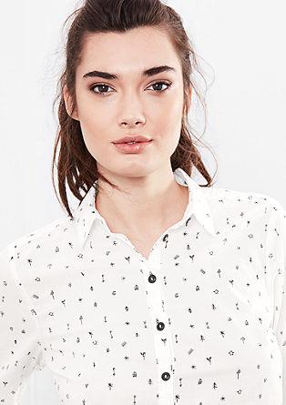 Srajčna bluza z drobnim potiskom