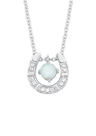 Srebrna ogrlica z obeskom v obliki podkve