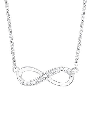 Srebrna ogrlica z obeskom v obliki simbola neskončnosti