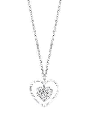 Srebrna ogrlica z obeskom v obliki srca