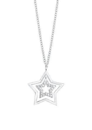 Srebrna ogrlica z obeskom v obliki zvezde