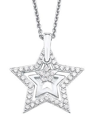 Srebrna ogrlica z zvezdo in cirkoni