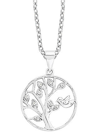 Srebrna verižica z drevesom življenja