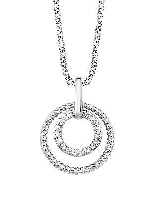 Srebrna verižica z obeskom s cirkoni