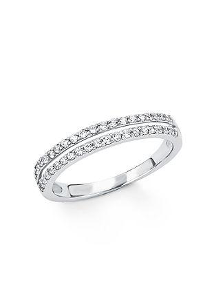 srebrni prstan s cirkoni