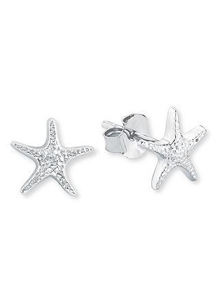 Srebrni uhani z morsko zvezdo