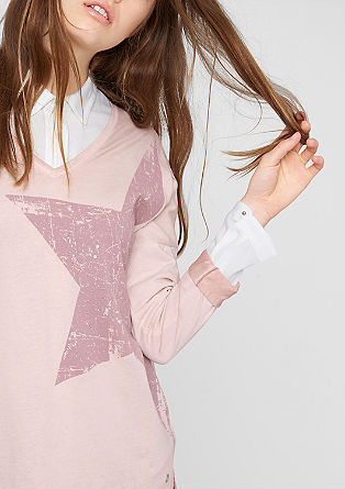 Star top with a garment-washed effect from s.Oliver