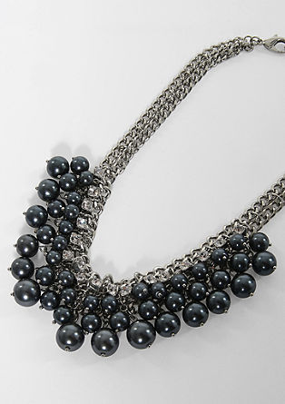 Statement necklace with rhinestone details from s.Oliver