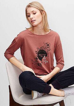 Statement-Shirt mit Glanzschrift