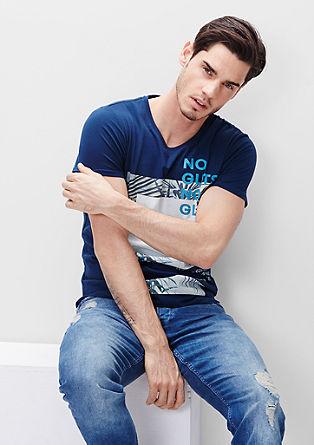 Statement-Shirt mit Palmenprint