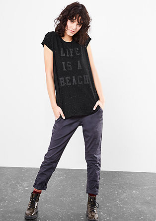 Statement T-shirt with metallic details from s.Oliver
