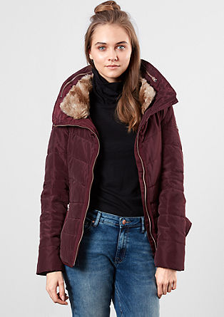 Steppjacke mit Fake Fur-Kragen