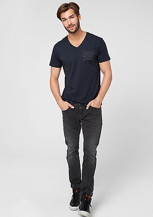 Stick Slim: grey jeans from s.Oliver
