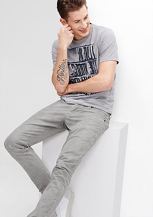 Stick Slim: Pale grey stretch jeans from s.Oliver