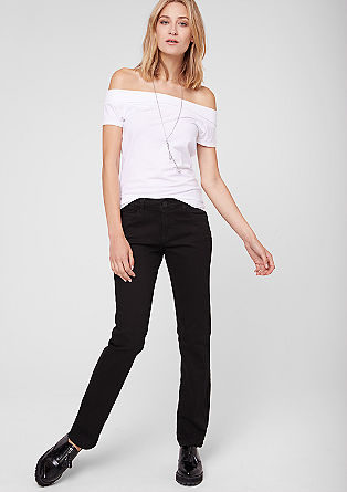 Straight: black stretch jeans from s.Oliver