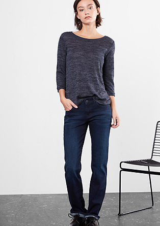 Straight: Blaue Stretch-Jeans