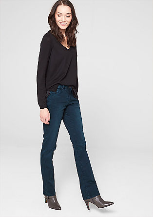 Straight: coloured denim jeans from s.Oliver