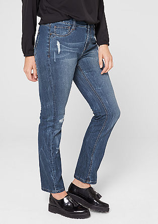 Straight: distressed jeans from s.Oliver