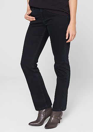 Straight: jeans with tacking effects from s.Oliver