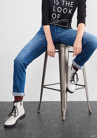 Straight: raztegljive modre jeans hlače