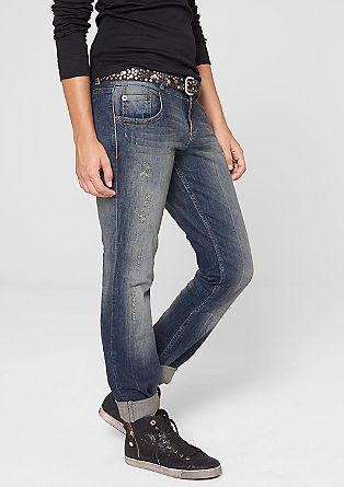 Straight: stretchy distressed jeans from s.Oliver