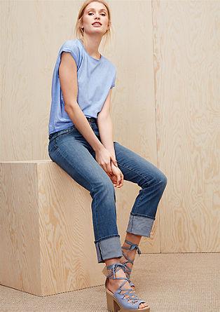 Straight fit: jeans met een dubbele knoop