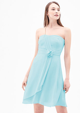 Strapless jurk van chiffon