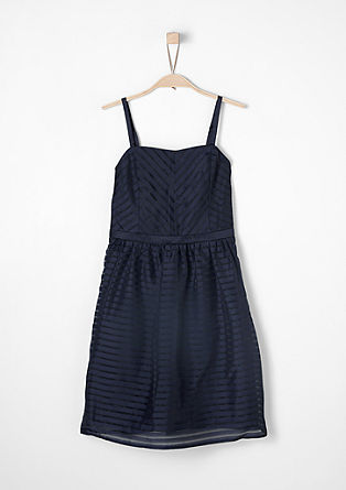 Strappy dress in striped organza from s.Oliver