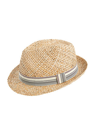 Straw hat with textile band from s.Oliver
