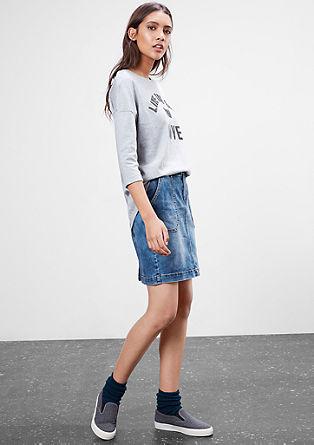 Strečová džínová sukně