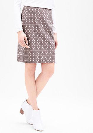 Strečová sukně zbavlněného saténu