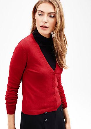 Strečový pletený kabátek