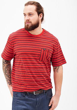 Streifen-Shirt aus Jersey