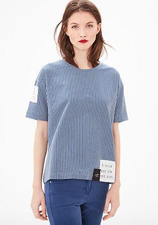 Streifen-Shirt mit Patches