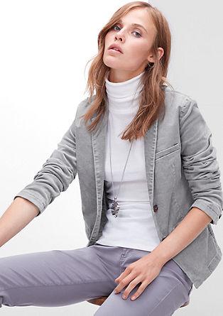 Stretch-Blazer aus Feincord