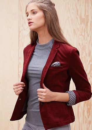 Stretch blazer made of needlecord from s.Oliver